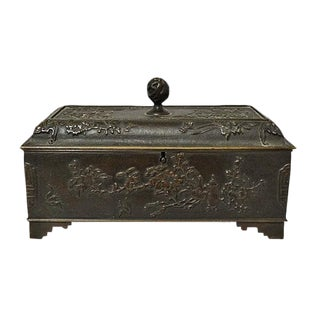 Late 19th Century Vintage French Chinoiserie Style Bronze Box For Sale