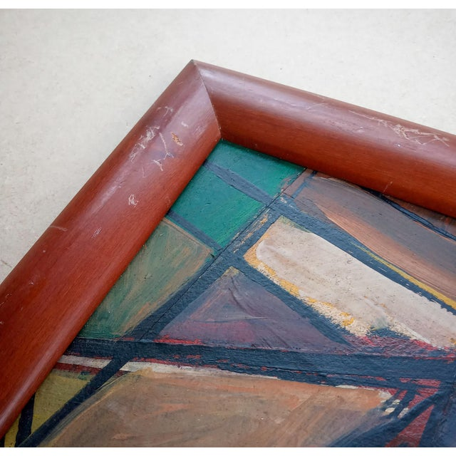 Late 20th Century Late 20th Century Cubist Female Portrait Oil Painting, Framed For Sale - Image 5 of 8