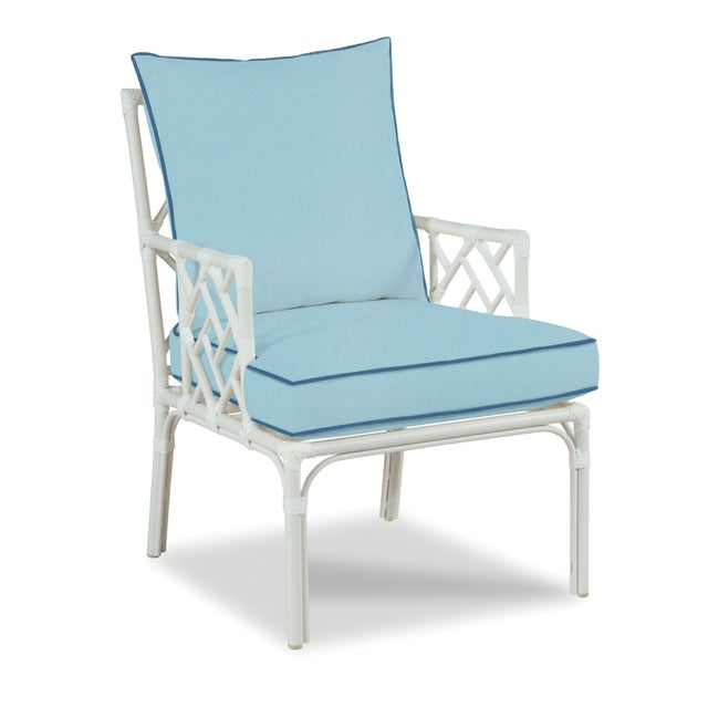 Traditional Haven Outdoor Occasional Arm Chair, Mineral Blue and Sapphire For Sale - Image 3 of 3