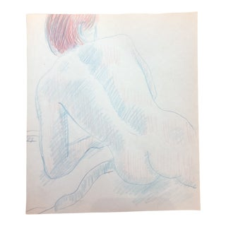 1980s Male Nude James Bone Drawing For Sale