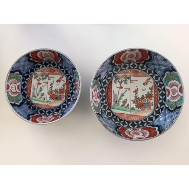 ANTIQUE . JAPANESE . MATCHING BOWLS . COLORED IMARI PORCELAIN . ANTIQUE I lived in Tokyo, Japan 1975-1978 and, again,...