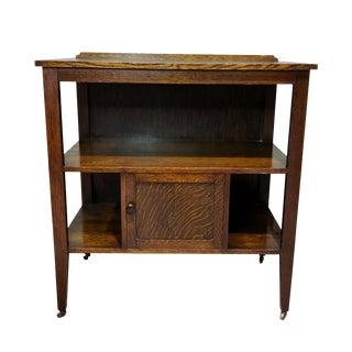 Antique Arts & Crafts Mission Quatersawn Oak Bookcase For Sale