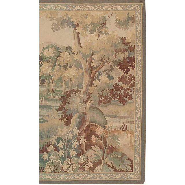 Traditional Recreation of an 18th Century Aubusson Design Verdure Tapestry For Sale - Image 3 of 4