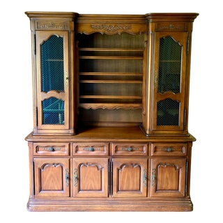 Drexel French Country 68' Buffet With Hutch For Sale