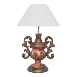 Antique Italian Gilded Table Lamp For Sale