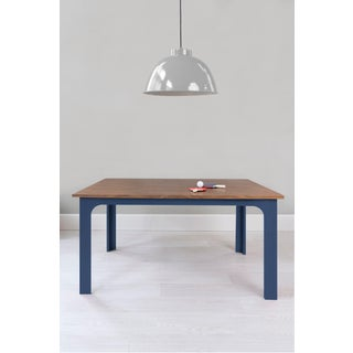 "Craft Kids 42"" Table in Walnut With Deep Blue Finish Accent Preview"