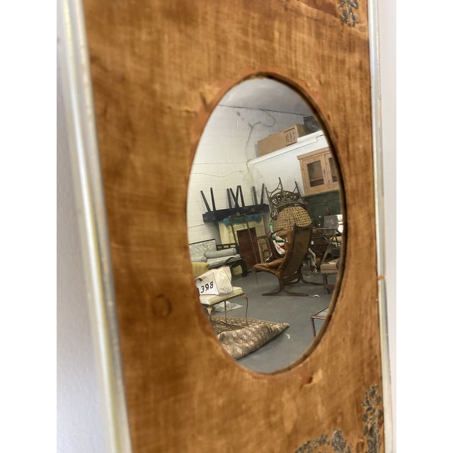Early 20th Century Antique Mirror on Fabric For Sale In Washington DC - Image 6 of 7