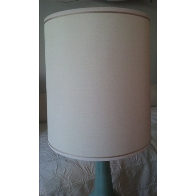 Mid-Century Ceramic Glazed Lamp with 3-Way Switch - Image 5 of 6