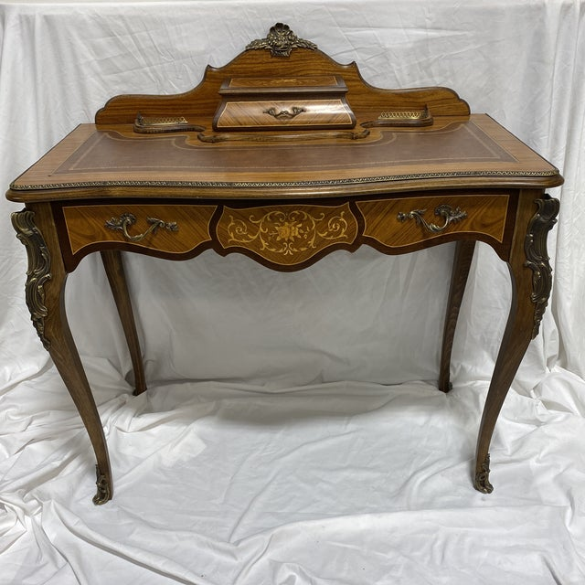 Ladies Writing Desk Ormalu Marquetry For Sale - Image 13 of 13