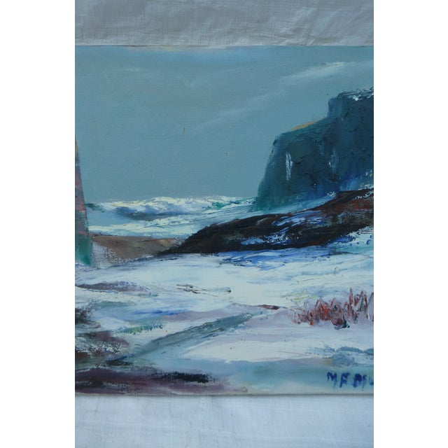 Mid Century Painting of Ocean Waves, M.F. Musgrave - Image 4 of 7