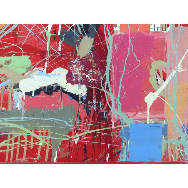 """William P. Montgomery Abstract Mixed Media Painting """"Cornucopia 2"""" on Wood For Sale In Miami - Image 6 of 13"""