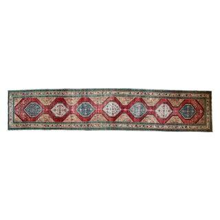 """Transitional Antique North West Persian Rug Runner - 3'7"""" x 18' For Sale"""