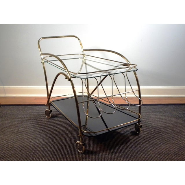 Vintage Deco Style Bar Cart - Image 5 of 8