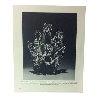 "Circa 1960 ""Mountain Jar - Showing Three Major Peaks"" Treasures of Ancient America Mounted Print For Sale"