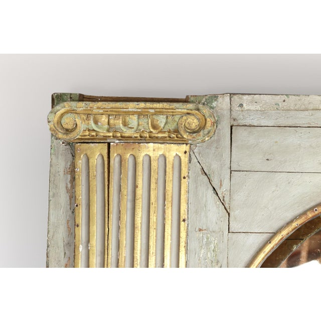 1820s Whimsical Painted Italian Architectural Element Fitted as a Bookshelf With Gilded Ionic Columns For Sale - Image 4 of 9