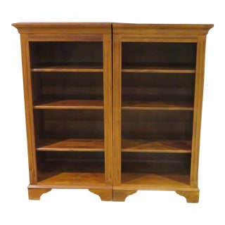 1970s Country Ethan Allen Country Crossings Matching Bookcases - a Pair For Sale