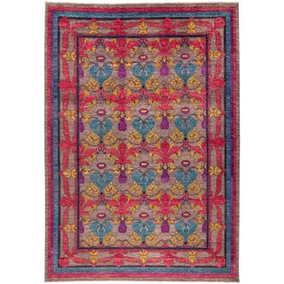 "Suzani, Hand Knotted Area Rug - 10'2"" X 14'1"" For Sale"