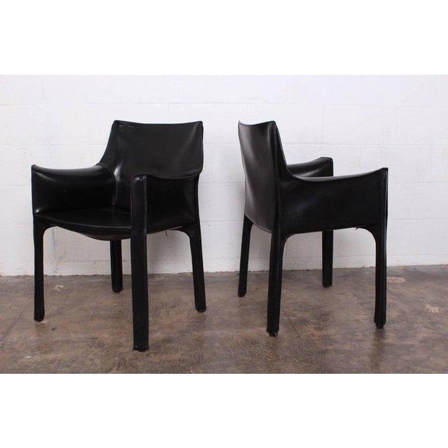 Mario Bellini Set of Four Cab Armchairs by Mario Bellini for Cassina For Sale - Image 4 of 11