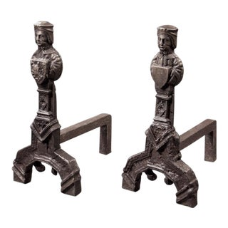 Pair of Renaissance Revival Style Andirons