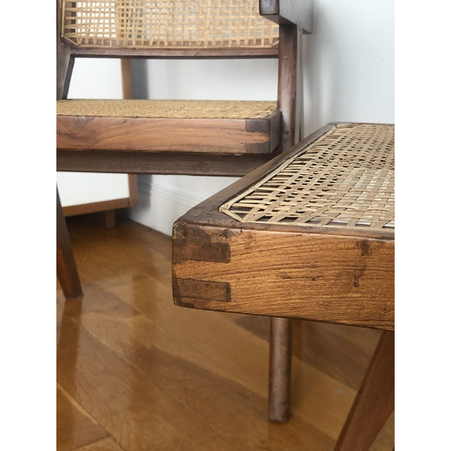 Pierre Jeanneret Caned Armchairs - a Pair For Sale In New York - Image 6 of 11