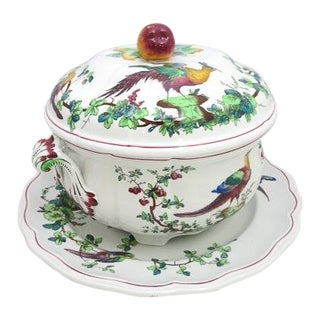 "1915 Copeland Late Spode ""Chelsea Birds"" Soup Tureen and Platter For Sale"