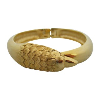 Gold Tone Bird Bracelet For Sale
