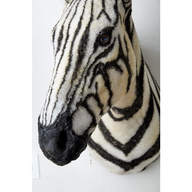 Artisan Sculpture of Zebra Using Faux Materials For Sale - Image 4 of 9