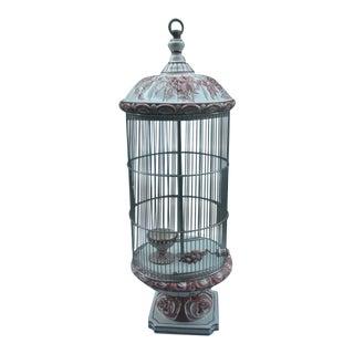 Vintage 1960s Italian Ceramic Bird Cage For Sale