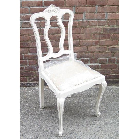Wood Set of Six Vintage French Chairs For Sale - Image 7 of 8