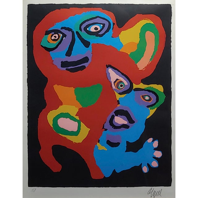 Abstract Karel Appel -Chien De Face -Original Artist Proof -Signed For Sale - Image 3 of 10