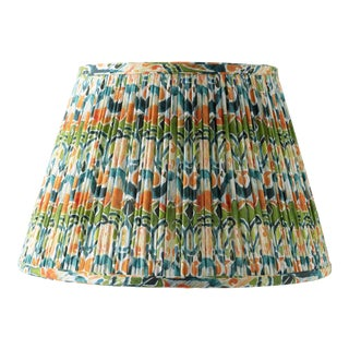 "Kaleidoscope in Orange and Green 16"" Lamp Shade, Green For Sale"