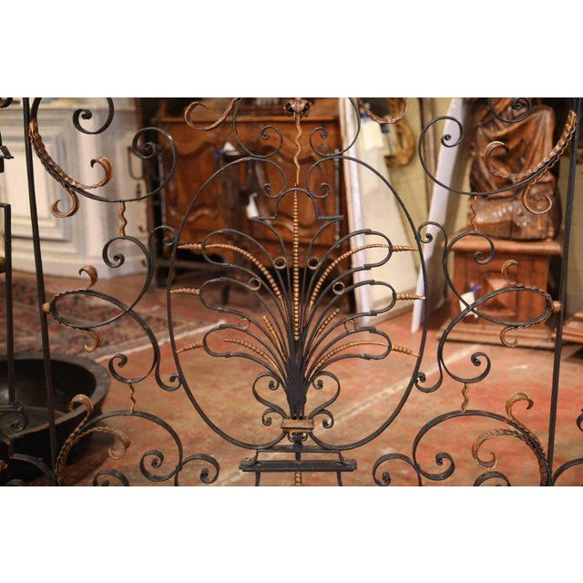 This beautifully forged antique balcony was crafted in France