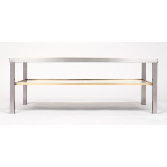 French Vintage French Modernist Coffee Table For Sale - Image 3 of 10