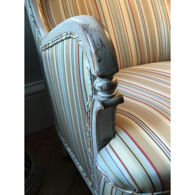 Gustavian (Swedish) Mid-20th Century Chairs & Settee From Sweden For Sale - Image 3 of 13