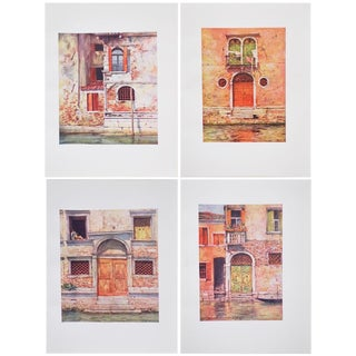1912 Mortimer Menpes, Windows and Doors of Venice Original Period Lithographs, Set of 4 For Sale