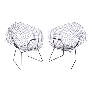 Small Diamond Chairs by Harry Bertoia for Knoll C. 1950's - a Pair For Sale