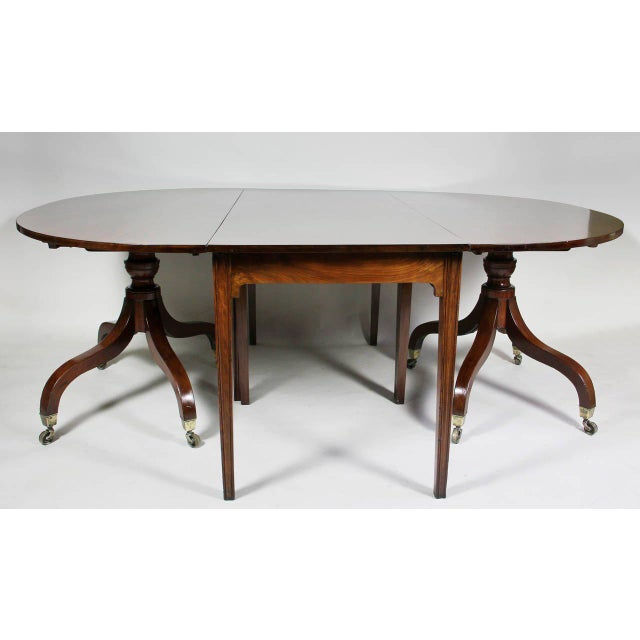 Unusual Irish Regency Two Pedestal Dining Table For Sale - Image 5 of 8
