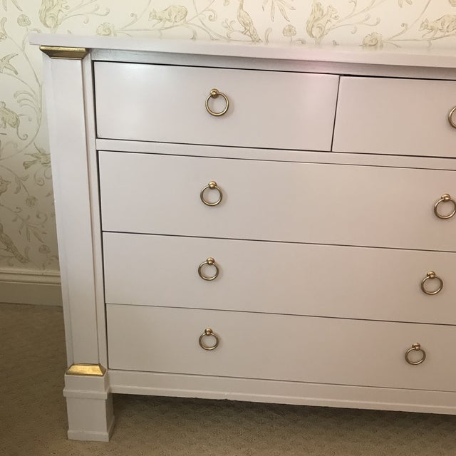 Vintage Baker Dresser With Brass Accents - Image 3 of 10