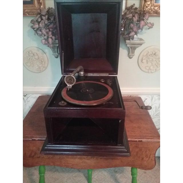 Antique Hand Crank Phonograph - Image 3 of 5