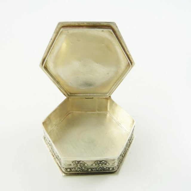 French French Sterling Silver Box, Ribbons and Floral Motifs For Sale - Image 3 of 7