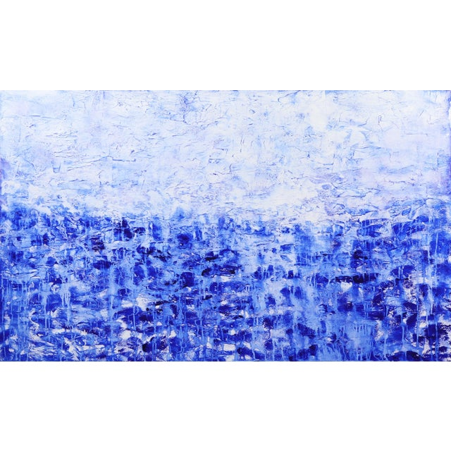 ''Oceanic Escape'' Contemporary Abstract Acrylic Painting by Clara Berta For Sale