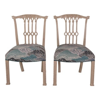 Madcap Cottage English-Style Side Chairs- Pair For Sale
