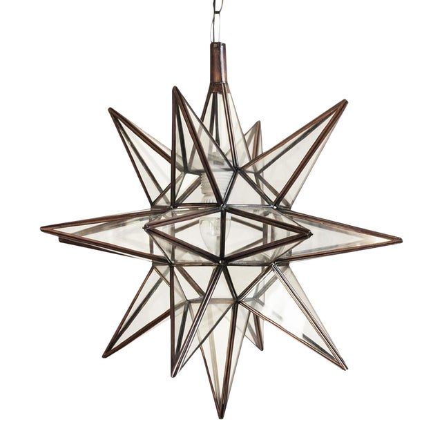 Moravian Star Lantern - Clear For Sale