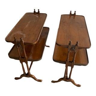 Regency Maple Server Sofa Tables - A Pair For Sale