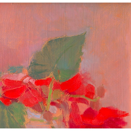 "Abstract Expressionism ""Vermillion Begonias"" Painting by Amy Griffith Colley For Sale - Image 3 of 4"
