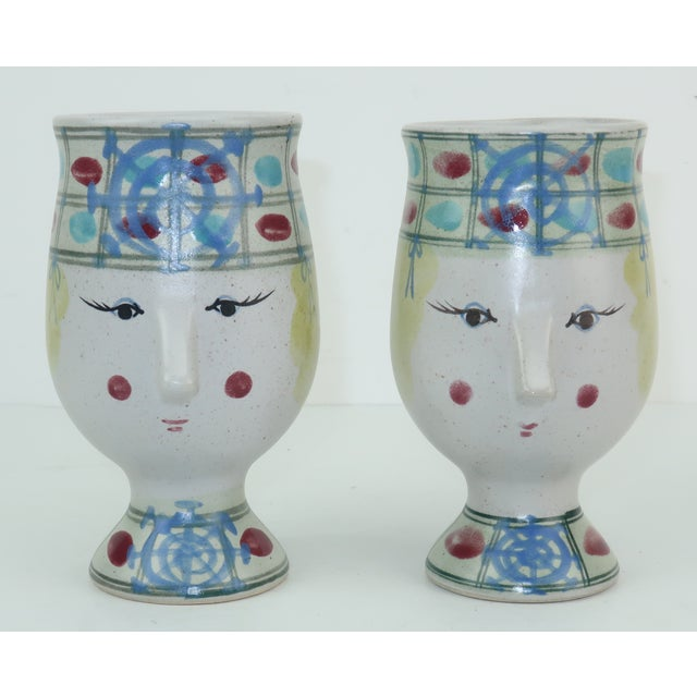 Vintage Fitz & Floyd Figural Mugs Cups, a Pair For Sale - Image 11 of 11