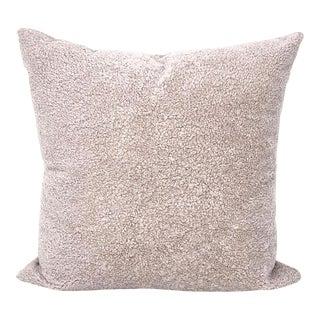 Beige Curly Sheepskin Pillow by Tasha Tarno For Sale