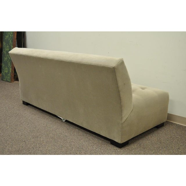 Gray Crate & Barrel Mitchell Gold Modern Plus Armless Sofa Loveseat Couch 336-003t-20 For Sale - Image 8 of 12