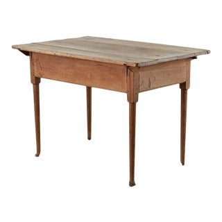 18th Century Country English Pine Farmhouse Work Table or Console For Sale