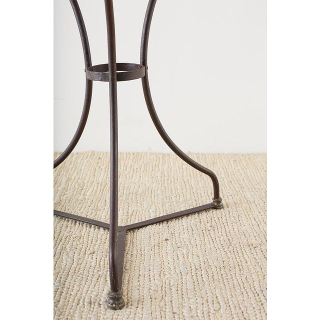 French Belle Époque Iron and Marble Bistro Cafe Table For Sale - Image 11 of 13